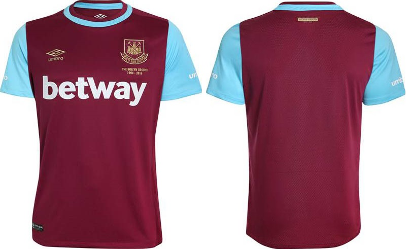 New West Ham 2015-16 Home Away Kits Released